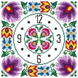 W 8844 Wzór graficzny online - Zegar etniczny