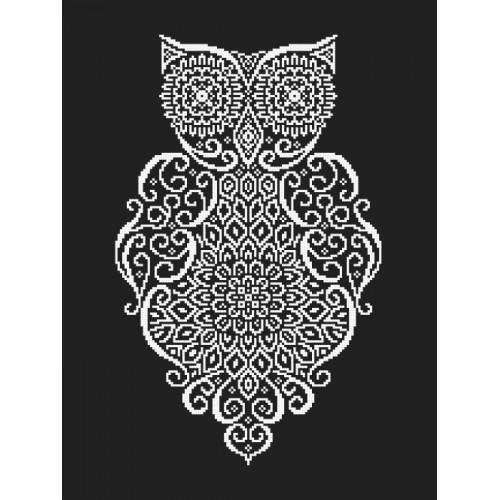Wzór graficzny online - Koronkowa sowa