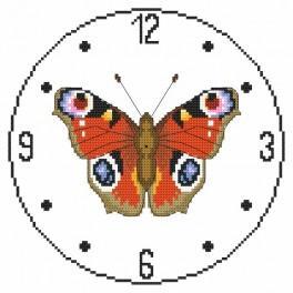 W 8858 Wzór graficzny online - Zegar z motylem