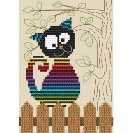 Wzór graficzny online - Zabawny kotek