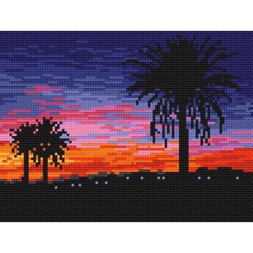 Wzór graficzny online - Zachód słońca