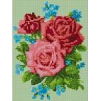 Kanwa z nadrukiem - Róże