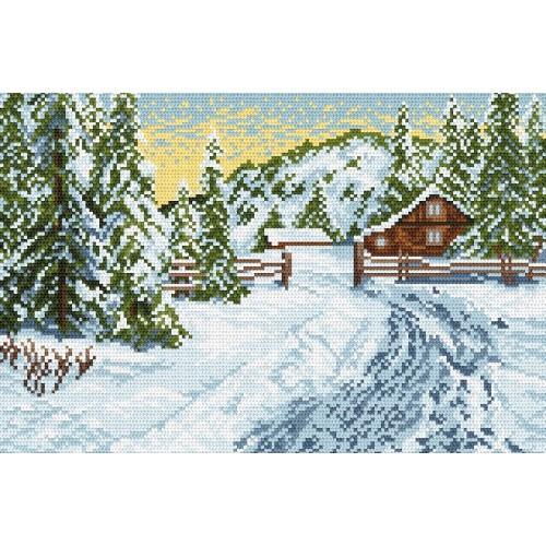 Kanwa z nadrukiem - Zimowy poranek