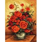 Kanwa z nadrukiem - B. Sikora - Wonne róże