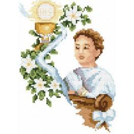 Kanwa z nadrukiem - B. Sikora - Komunia chłopca