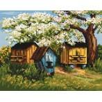 Kanwa z nadrukiem - Ule w sadzie