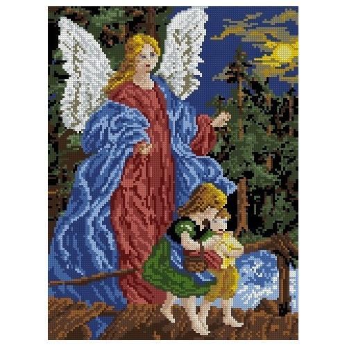 3029 Kanwa z nadrukiem - Anioł Stróż