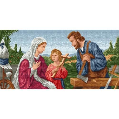 4041 Kanwa z nadrukiem - Święta rodzina