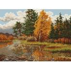 Kanwa z nadrukiem - Pejzaż jesienny