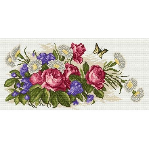 Kanwa z nadrukiem - Bukiet róż