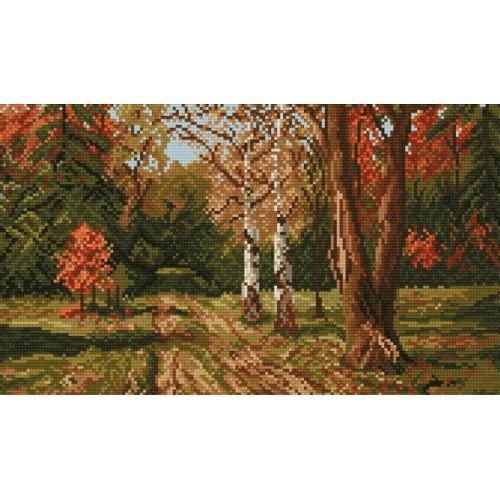 4101 Kanwa z nadrukiem - Jesienny pejzaż