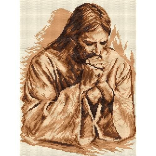 Kanwa z nadrukiem - Modlitwa Jezusa