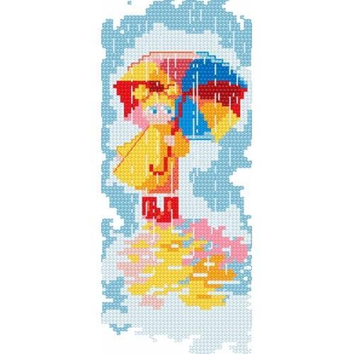 4104 Kanwa z nadrukiem - Pod parasolką