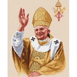 Kanwa z nadrukiem - Papież Benedykt XVI