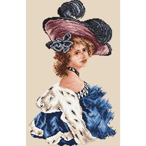 Kanwa z nadrukiem - Kobieta w niebieskiej tunice