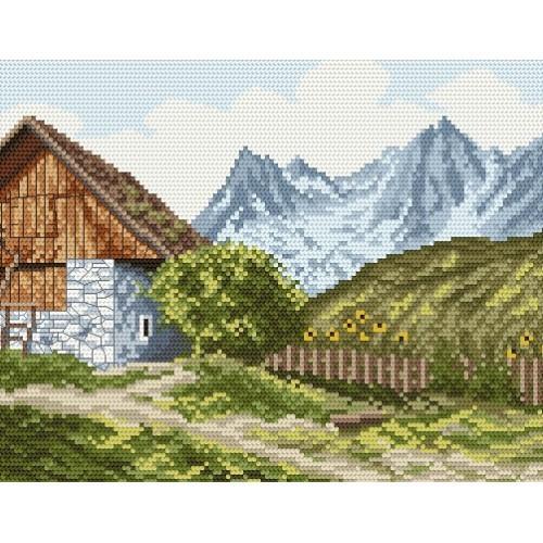 Kanwa z nadrukiem - U podnóża gór