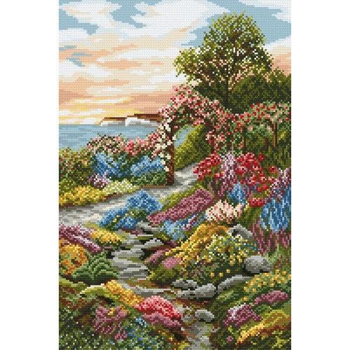 Kanwa z nadrukiem - Ogród nad zatoką