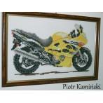 Kanwa z nadrukiem - Motocykle_Złoty wicher