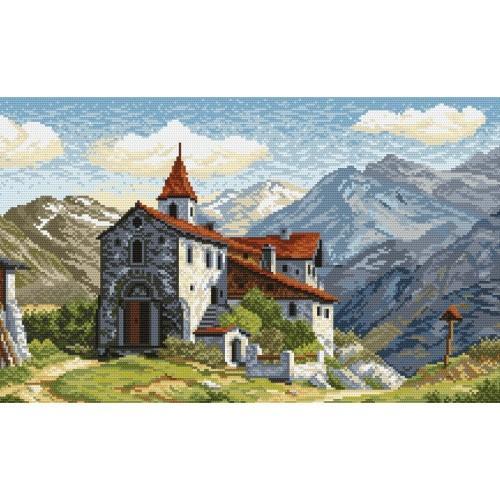 Kanwa z nadrukiem - Zamek na górskim szlaku
