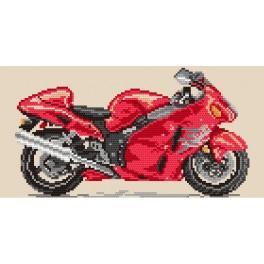 Kanwa z nadrukiem - Motocykle - Ogniste tornado