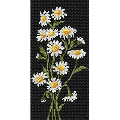 Kanwa z nadrukiem - Kwiaty rumianku
