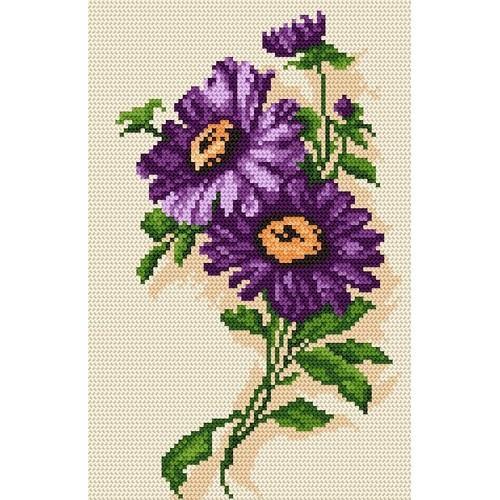 Kanwa z nadrukiem - Wiosenne kwiaty