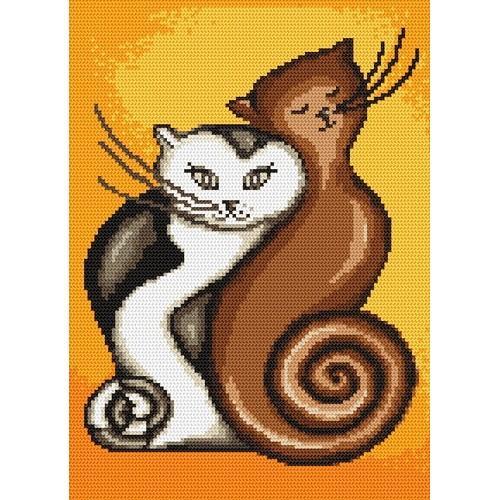 Kanwa z nadrukiem - Zakręcone koty