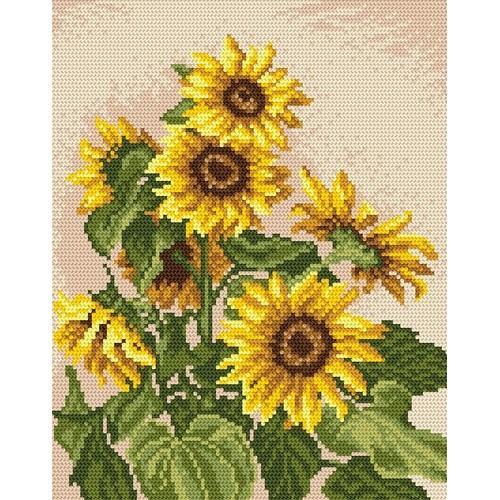 Kanwa z nadrukiem - Kwiaty lata