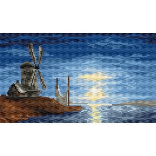 Kanwa z nadrukiem - Wietrzna zatoka