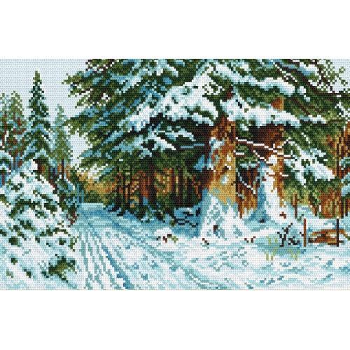 Kanwa z nadrukiem - W_zimowym lesie