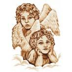 Kanwa z nadrukiem - Na niebiańskiej chmurce