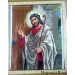 Kanwa z nadrukiem - Jezus u drzwi