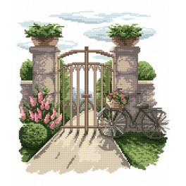 Kanwa z nadrukiem - B. Sikora - Tajemniczy ogród