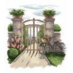 4539 Kanwa z nadrukiem - Tajemniczy ogród