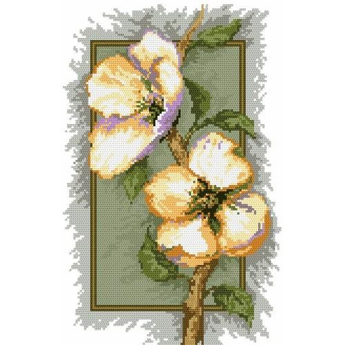 4542 Kanwa z nadrukiem - Kwiaty wiśni