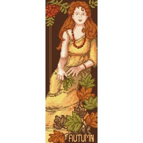 Kanwa z nadrukiem - B.Sikora-Malyjurek - Kobieta - Jesień