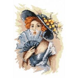 4550 Kanwa z nadrukiem - B. Sikora - Portret damy