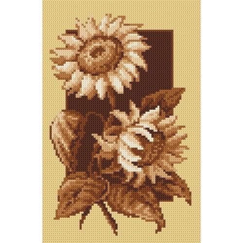 Kanwa z nadrukiem - Jesienne słoneczniki