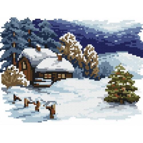 Kanwa z nadrukiem - B. Sikora - Świąteczny wieczór