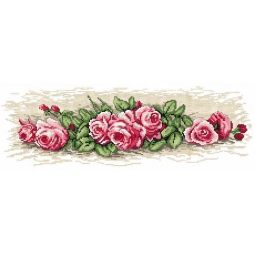 Kanwa z nadrukiem - Różyczki