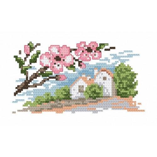 4562 Kanwa z nadrukiem - Wiosna