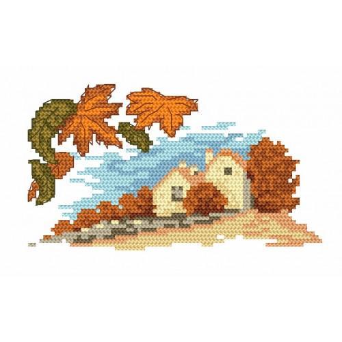 4564 Kanwa z nadrukiem - Jesień