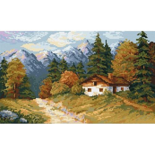Kanwa z nadrukiem - Jesiennym szlakiem