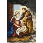 Kanwa z nadrukiem - Narodziny Jezusa