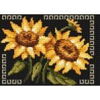 Kanwa z nadrukiem - Słoneczne kwiaty