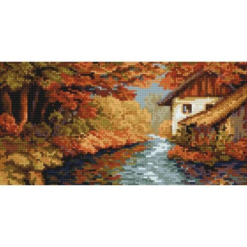 Kanwa z nadrukiem - B. Sikora - Czar jesieni