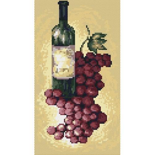 Kanwa z nadrukiem - B.Sikora - Wino czerwone