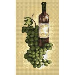 Kanwa z nadrukiem - B.Sikora - Wino białe