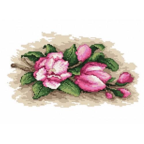 Kanwa z nadrukiem - Urzekające magnolie