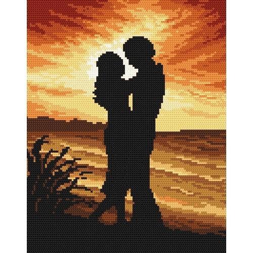Kanwa z nadrukiem - Nadmorski romans